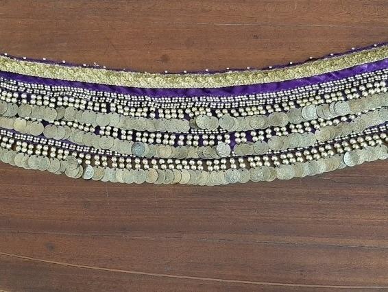 Caderin Danza Árabe De Terciopelo Violeta