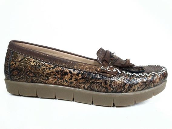 Zapatos Valerio 032-114 Mocasin Cuero Vacuno Super Acolchado