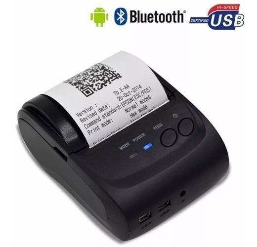 Mini Impressora Bluetooth Termica 58mm Android Frete Gratis