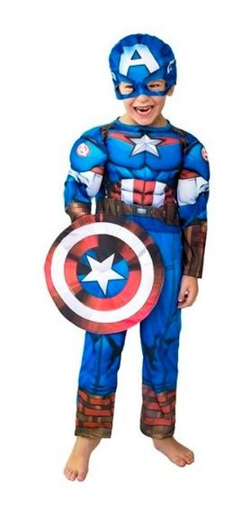 Capitan America Disfraz Musculos New Toys Original Educando