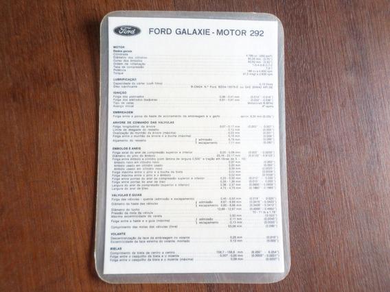 Catálogo De Bolso Original Ford Galaxie Landau