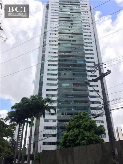 Apartamento Com 4 Dormitórios Para Alugar, 207 M² Por R$ 7.000/mês - Jaqueira - Recife/pe - Ap0498