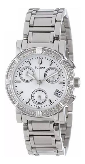 Relógio Bulova Feminino Cronógrafo Com Diamantes C637381
