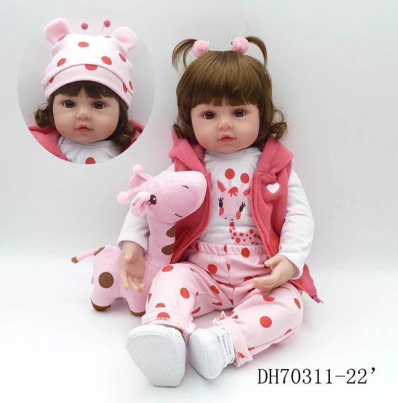 Bebe Reborn Npk Girafa Rosa Boneca Realista - Promoção
