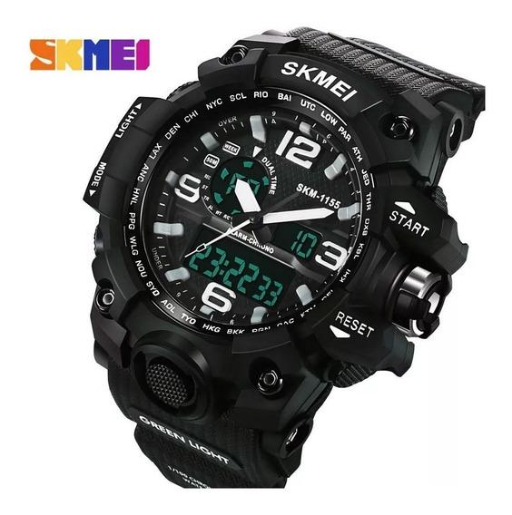 Relógio Masculino Skmei Anadigi 1155 Pt-br
