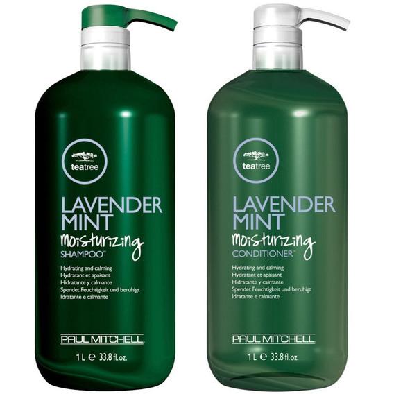 Paul Mitchell Lavender Mint Shampoo 1 L + Cond 1 L + Brinde