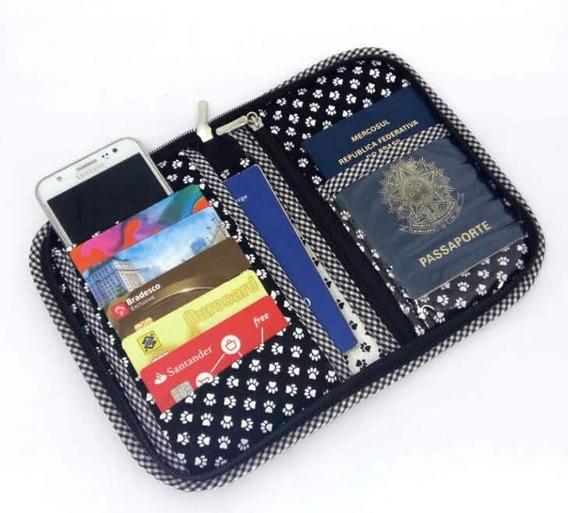 Porta Passaporte, Carteira E Celular Personalizado Snnop