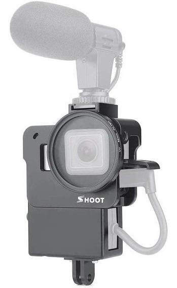 Moldura Frame Adaptador Microfone Gopro Hero7 6 5 Black