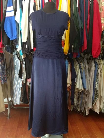 Vestido Importado Elegante De Fiesta Azul Talle 8