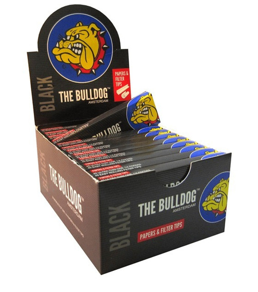 Papel Y Filtro Tips - The Bulldog Black