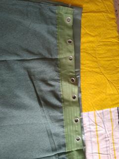 2 Cortinas, Color Verde,2.85cm Ancho X2,59 Altura(12v)