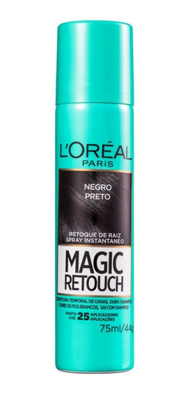 Loréal Magic Retouch Preto - Corretivo De Raiz 75ml Blz
