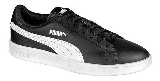 Tenis Puma Smash V2 Negro Tallas Del #25 Al #30 Hombre Ppk