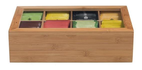 Caixa Para Chá Importada Bambu Ref.: G11-bx002