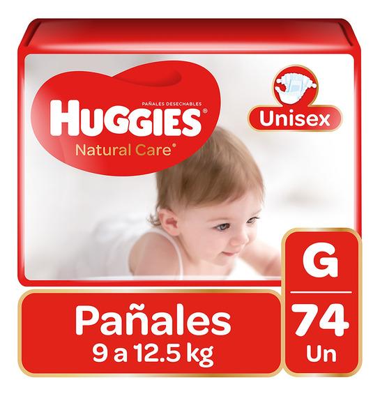 Pañales Huggies Natural Care Unisex 74 Unidades Talla G