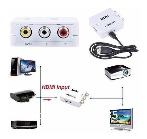 Mini Adaptador Conversor De Hdmi Para Video Composto 3rca
