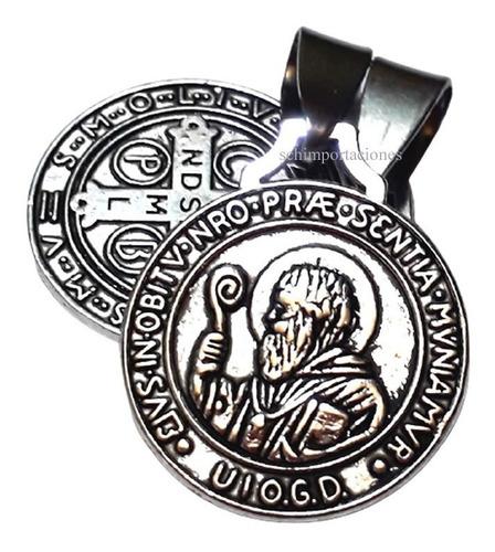Nueva Medalla San Benito - Consagrada + Cadena Acero.
