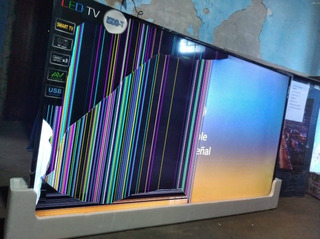Smart Tv 65 Steel Home Pantalla Dañada