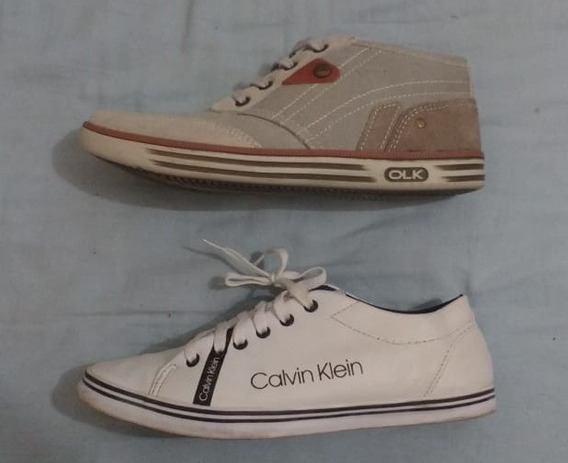 Lote Tenis Sapatenis Calvin Klein E Olympikus Ck Olk Ckj