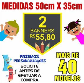 Banner Didático Pedagógico 50cm X 35cm 2 Unids Cód: Ywz02p