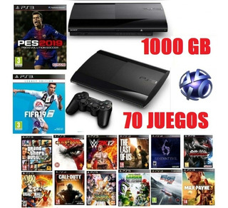 Ps3 Ultraslim 1tb 1000gb +1control Orig+70 Juegos Digitales