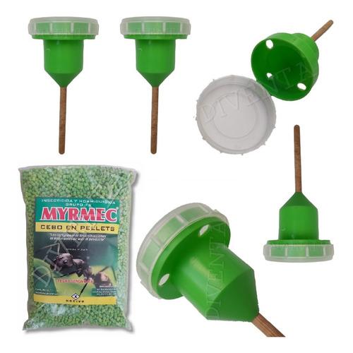 Imagen 1 de 6 de Insecticida Y Hormiguicida Premium + Casita Porta Cebo Combo