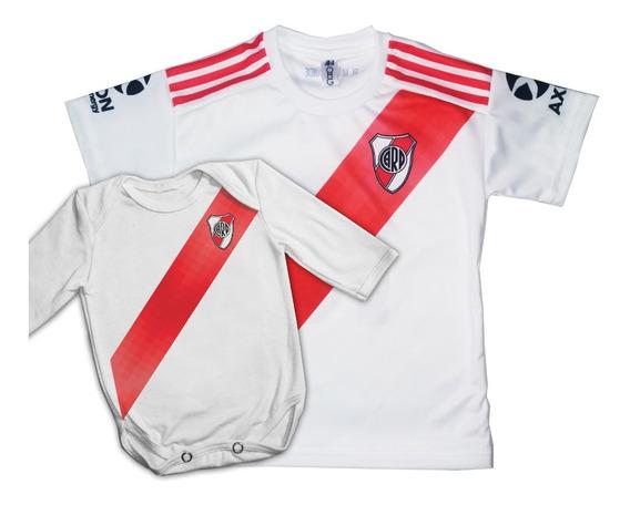 Combo Body Bebe + Camiseta River Personalizado