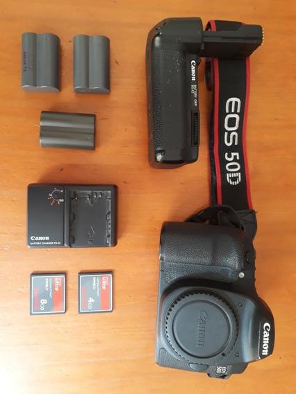 Camera Profissional Canon Eos 50d Com Grip E Acessórios