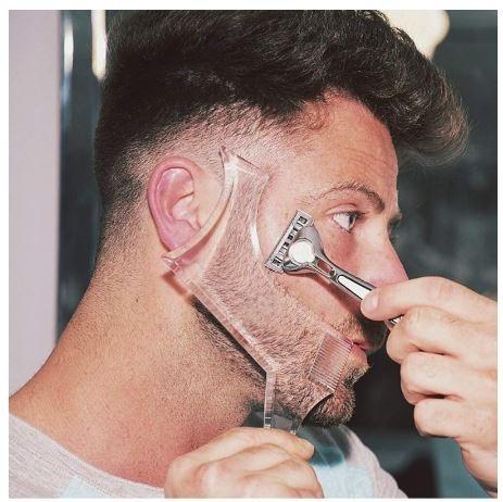 Homens Regua Barba Estilo Barbeiro Ferramenta Desenho R 24 30