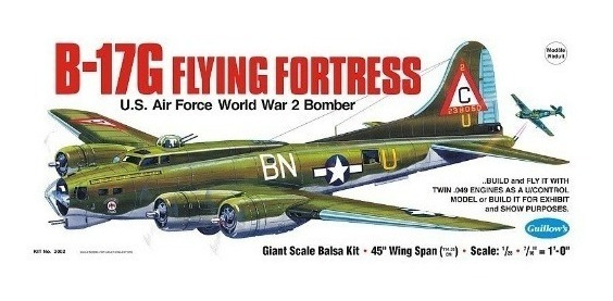 Guillows Kit P/construir B-17g Flying Fortress 2002