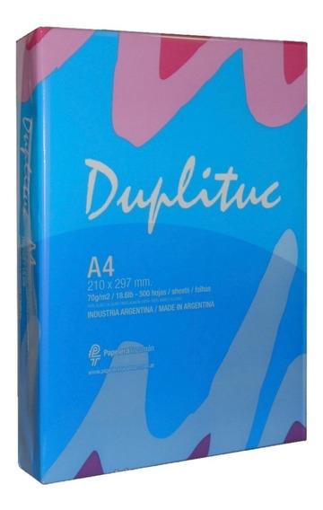 Resma A4 De 70gr Duplituc Envios Papelera Grafipel