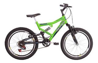 Bicicleta Infantil Aro 20 Dupla Suspensão 6v Status