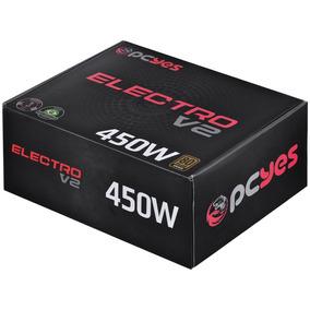 Fonte Pcyes Atx 450w Real Electro V2 Series 80 Plus Bronze