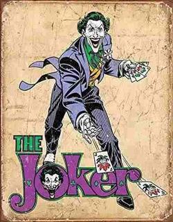 Dc Comics El Joker Tin Sign 13 X 16 Es