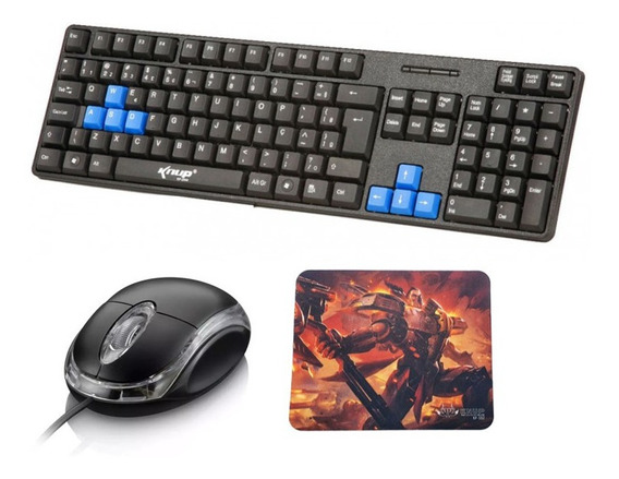 Combo Teclado Gamer + Mouse 1000dpi + Mouse Pad Gamer