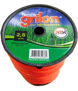 Tanza Grilon 2,5mm Cuadrada Desmalezadora Motoguadaña X 1kg