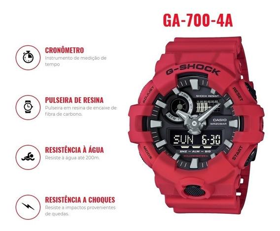 Relógio Casio G-shock Ga-700-4adr Original Pronta Entrega