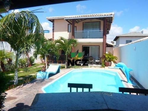 Casa Com 4 Dormitórios À Venda, 102 M² Por R$ 530.000,00 - Arembepe - Camaçari/ba - Ca3330