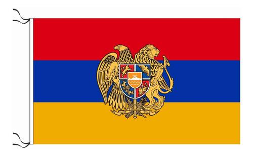 Bandera De Armenia Con Escudo De Armas 90 X 150 Cm