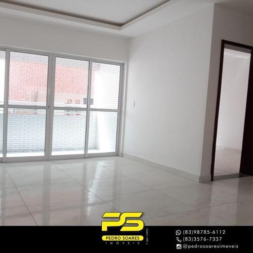Apartamento Com 2 Dormitórios À Venda, 52 M² Por R$ 185.000,00 - Altiplano Cabo Branco - João Pessoa/pb - Ap3671