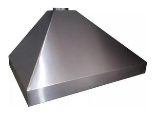 Campana Cocina Industrial Comercial 130x60 Acero Filtro Luz