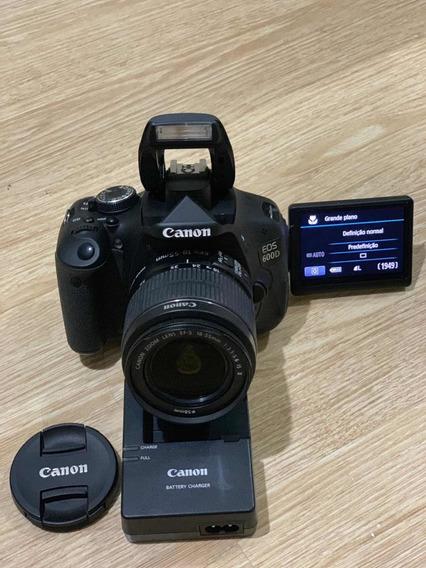 Câmera Cânon Eos 600d T3i Completa