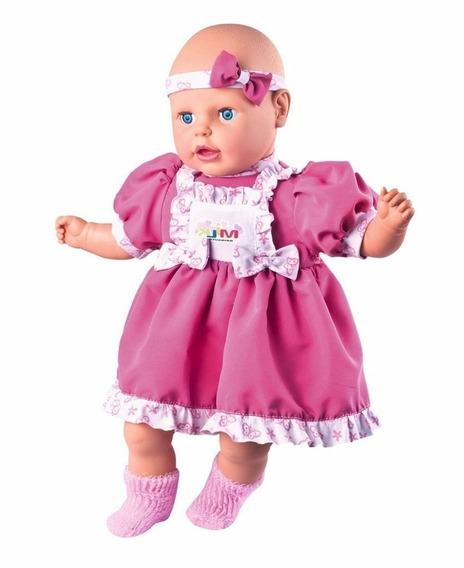 Boneca Meu Nenezão Fala 62 Frases Linda - Milk Brinquedos