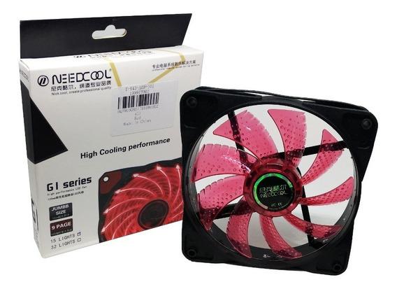 Cooler Gamer Need Cool 120mm Vermelho Led G1 Séries