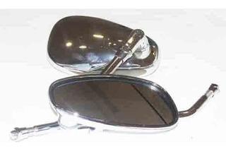 Espejos Cromado 828 Y 102 10mm Motos Chopper 1 Par