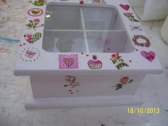 2) Caja De Te Con Vidrio, Diversas Medidas