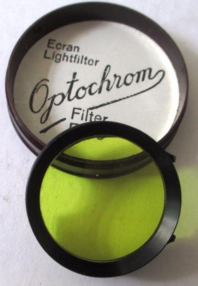 446 Filtro Fotográfico Optochrom 1 Amarelo 3 Cm De Diametro