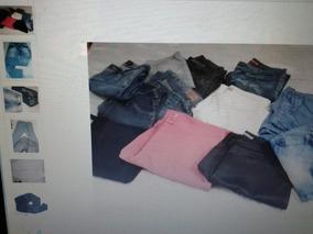 Lote Calças Shortes E Blusas E Bermudas Feminino 46/42 Usad