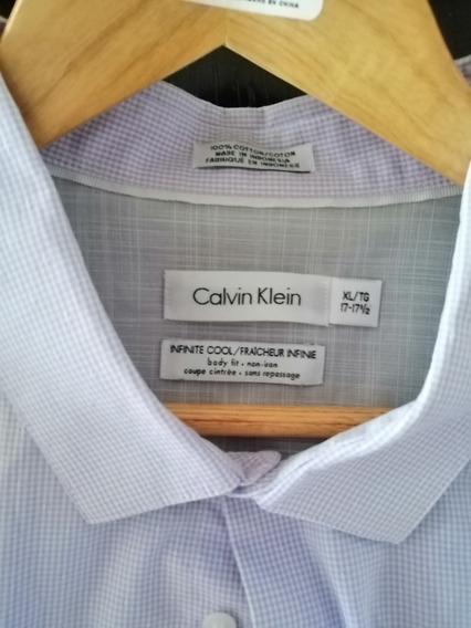 Camisa Formal Calvin Klein Talla 17 - 17 1/2 Xl 100% Origina