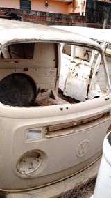 Vw Volkswagen Perua Kombi Sucata 1979 Bege Carcaça